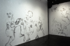 Marianismo #1, 1998, conte on wall, wall drawing installation, 500X Gallery, Project Room