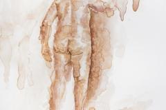 "Groundswell #11, 2021, watercolor on aquaboard, 12"" x 12"""